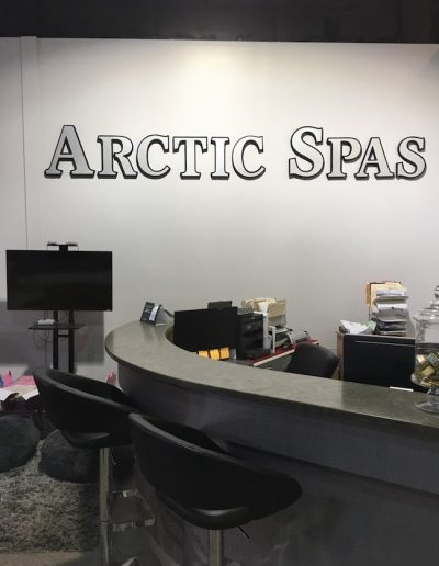 The cash desk at arctic spas in Kamloops