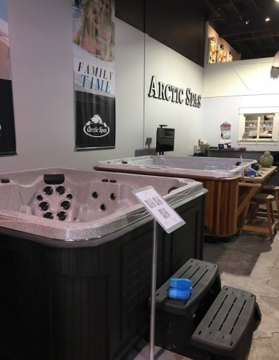Hot tubs Inside of the arctic spas in Kamloops