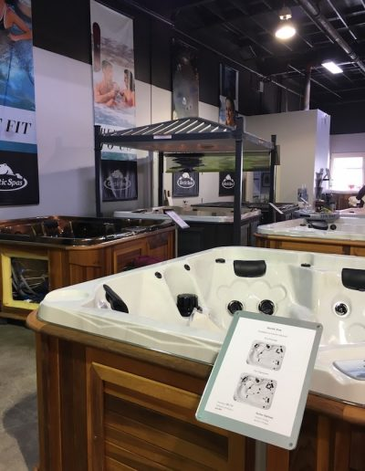 Hot tubs in the arctic spas kamloops showroom